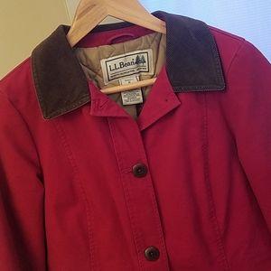 LL Bean Red Barn Coat